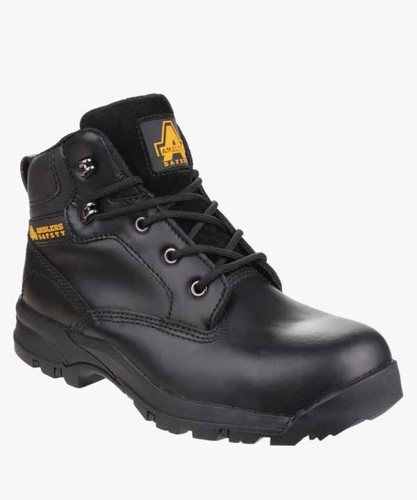 c658d4fad55 Womens Ladies Safety Work Boots Black Leather Steel Toe Cap Laced Amblers  AS104