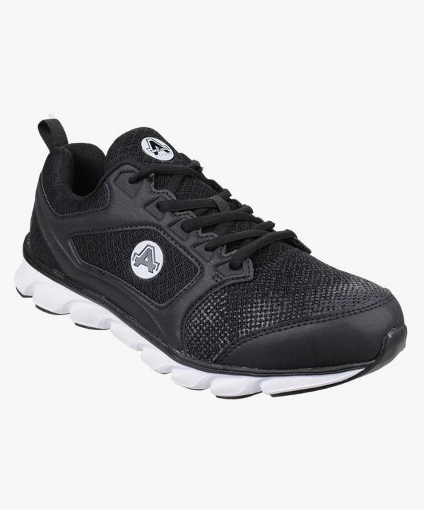 e763023d681 Mens Safety Work Trainers Black Steel Toe Cap Composite Midsole Laced  Lightweight Amblers AS707