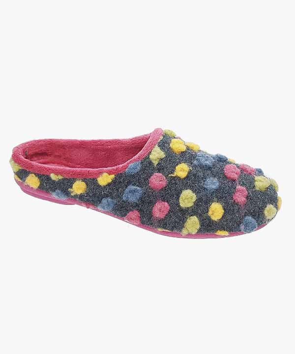3f79c4e6c Womens Ladies Mule Slip On Slippers Fuchsia Pink Yellow Padded Memory Foam  Sleepers LS312M
