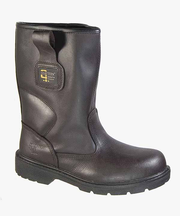 753e28eec2a Mens Grafters Waterproof Safety Rigger Boots Brown Crazy Horse Leather Slip  On Steel Toe M560B
