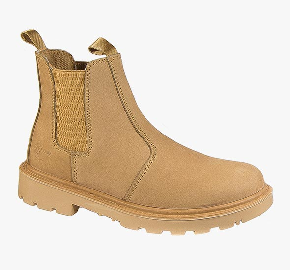 Mens Grafters Safety Work Boots Tan