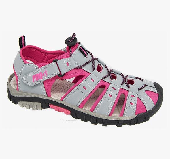 Womens Ladies PDQ Walking Sandals Pink