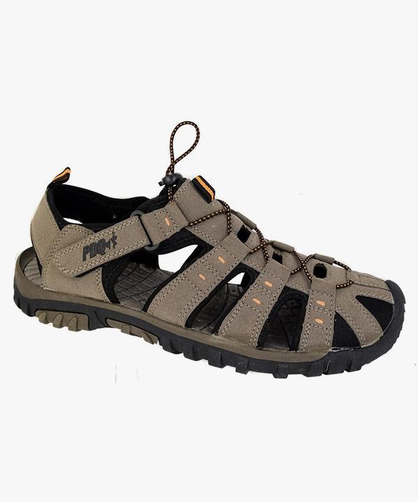 4fbec77d550 Mens PDQ Grey Orange Adventure Trail Walking Velcro Sports Sandals – Mega  Footwear