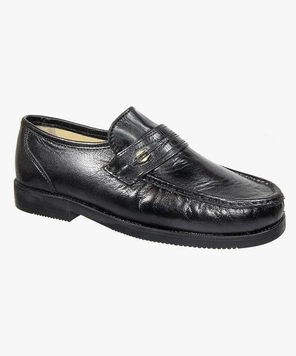 121dbfb83b02 Mens Tycoons Black Leather Extra Wide Fit Shoes M478A – Mega Footwear