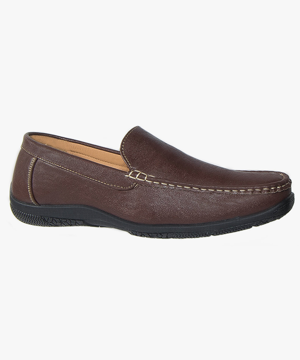 Mens Casual Slip On Shoes Brown Comfortable Leisure Scimitar M442B