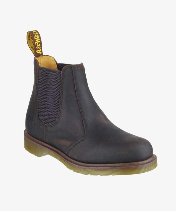 Mens Dr Martens Chelsea Boots Brown Leather Slip On Non Safety 8250