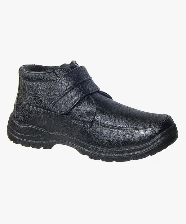 Mens Ankle Boots Black Touch Fastening Warm Lined Comfortable Casual Scimitar M357A
