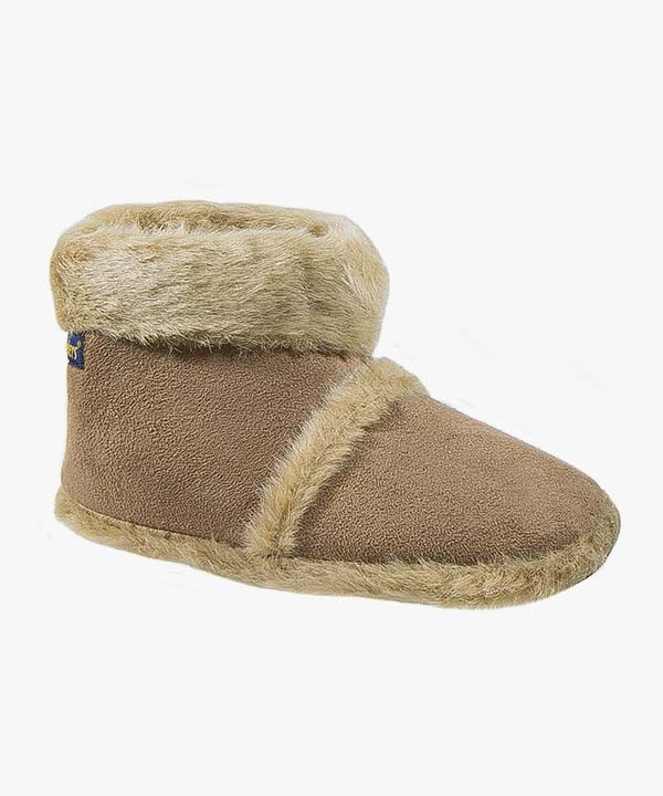 Mens Coolers Boot Slippers Beige Brown Warm Lined Slip On Soft Soled 034