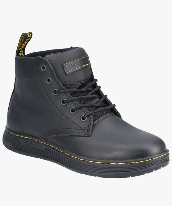Mens Dr Martens Work Boots Black Leather Laced Occupational Amwell