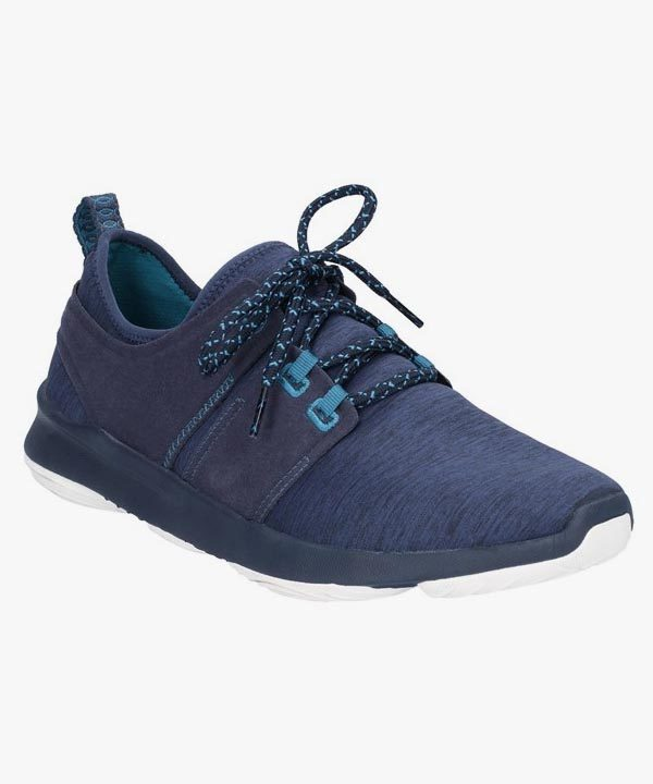 Mens Hush Puppies Trainers Navy Blue Shock Absorbing Laced Geo Bouncemax