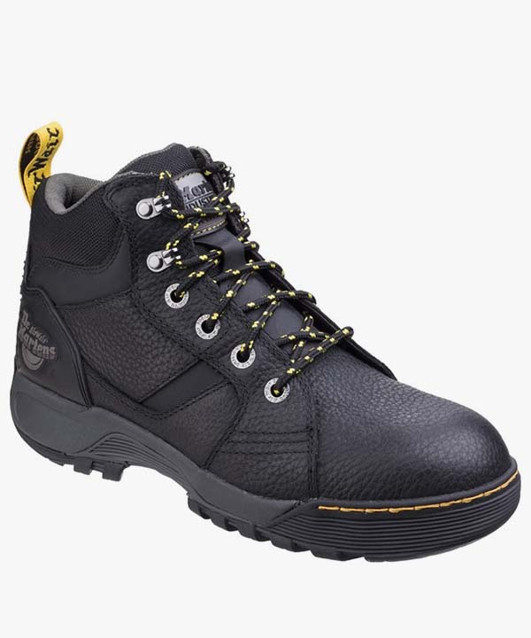 Mens Dr Martens Safety Work Boots Brown Leather Steel Toe Cap Laced Grapple