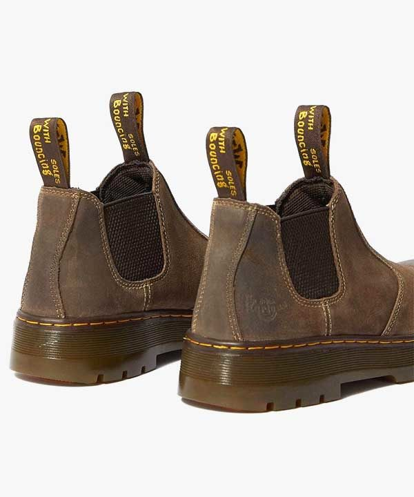 Mens Dr Martens Hardie Chelsea Boots Brown Waxy Leather Slip On Occupational