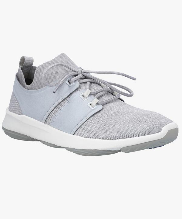 Mens Hush Puppies Trainers Grey Shock Absorbing Laced World Bouncemax