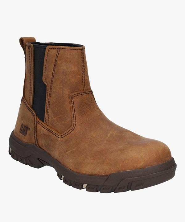Womens Ladies Caterpillar Abbey Safety Work Boots Butterscotch Nubuck Puncture Resistant Slip On