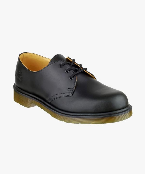 Mens Dr Martens 8249 Occupational Shoes Black Leather Laced 3 Eye