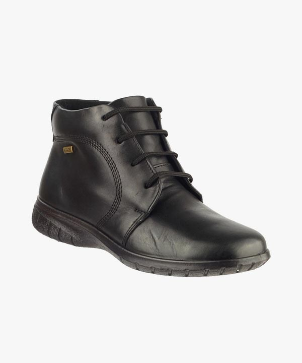 Ladies Womens Cotswold Waterproof Boots Black Smooth Leather Laced Bibury