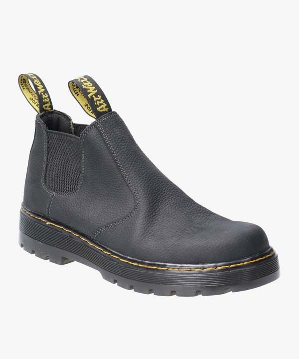 Mens Dr Martens Hardie Chelsea Boots Black Waxy Leather Slip On Occupational